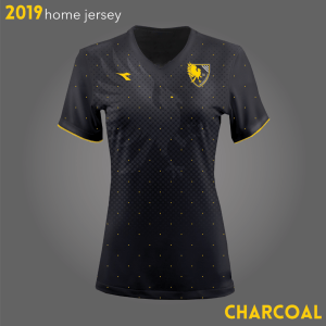 Columbus Eagles FC's black kits for 2019 | Designs by Larissa Najjar