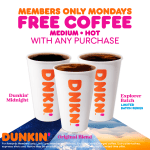 Free Coffee Mondays at Dunkin' with DD Perks in February