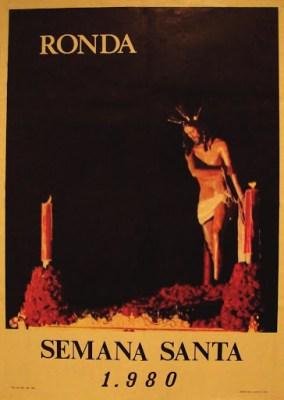 Cartel Oficial Semana Santa de Ronda 1980. También fue cartel en 1981.