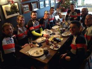 Pub lunch at Walberswick on the Xmas 2015 ride to Saxmundham