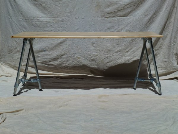 Les Alpes Industrial Dining Table with Light Reclaimed Wood Top