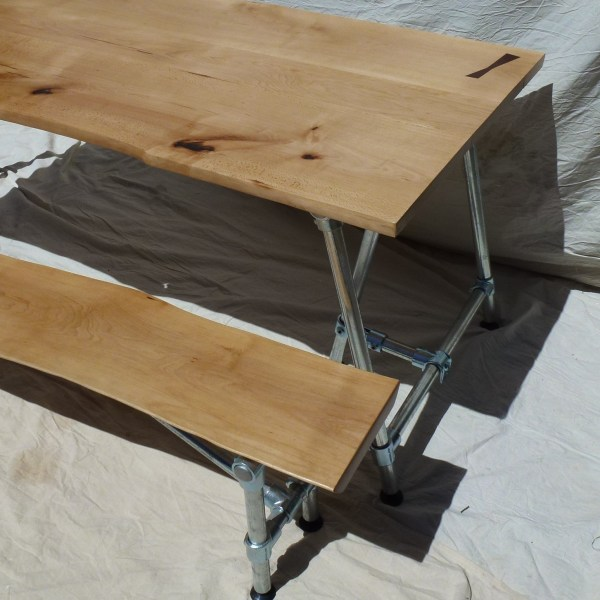Les Alpes Dining Table and Matching Bench