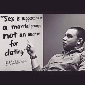 Sex is a marital privilege