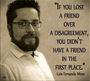 Loss of a friend over a disagreement