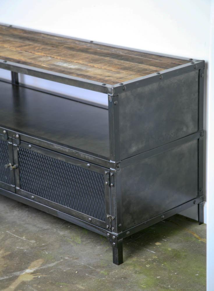 Combine 9 Industrial Furniture Media Console