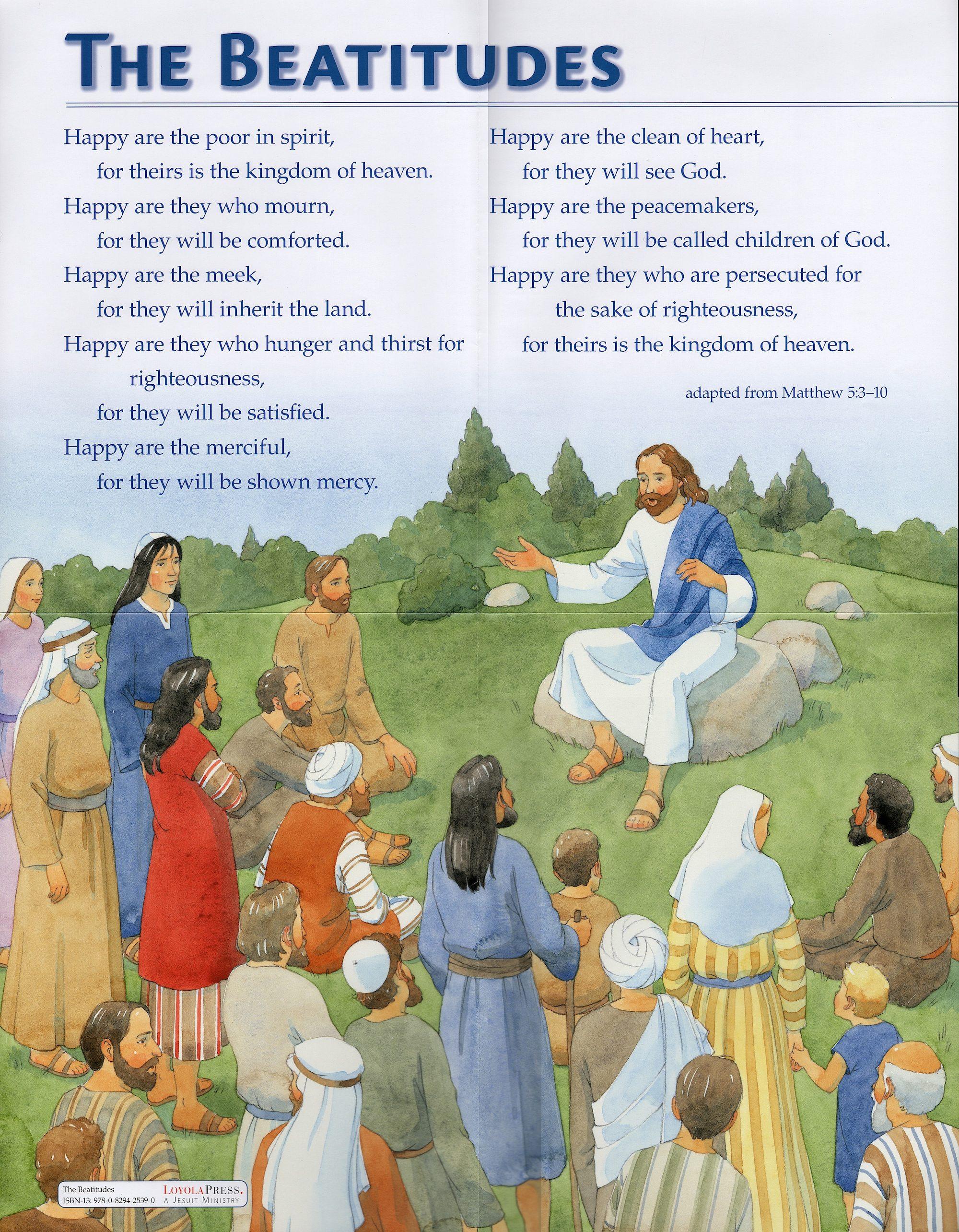 ten commandments and beatitudes posters
