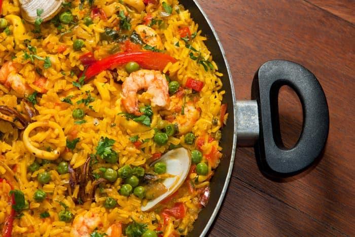paella de marisco arroz marinera