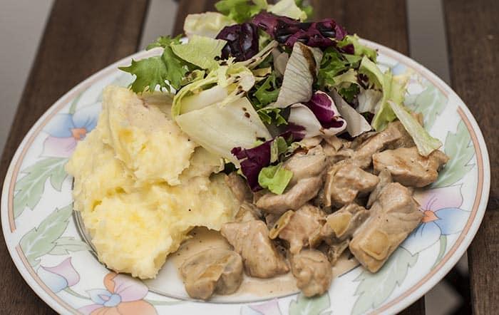 receta de invierno de cerdo cremoso
