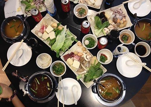 mesa comida china