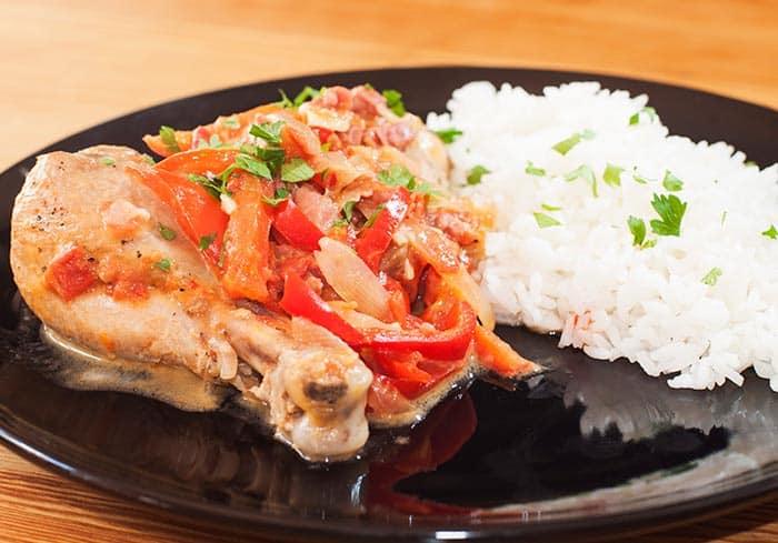 pollo al chilindron receta