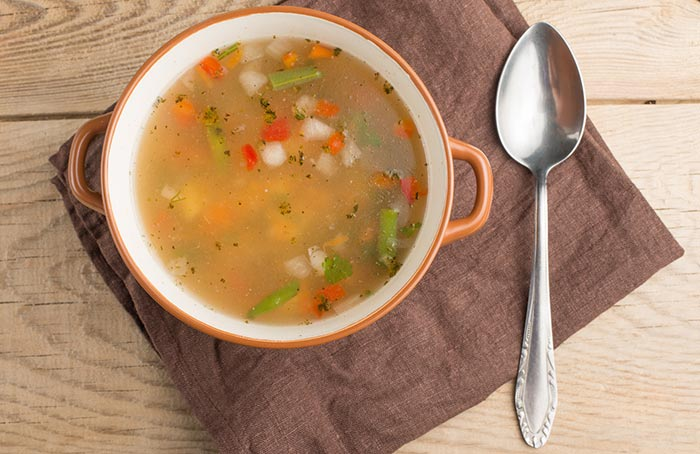 plato de sopa juliana