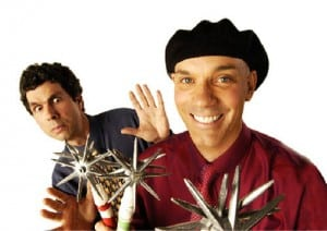 Book or hire comedy jugglers Raspyni Brothers