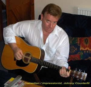 Book or hire comedian impressionist Johnny Counterfit