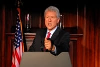 Steve Bridges as President Clinton