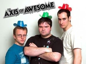Book or hire comedy musicians Axis of Awesome