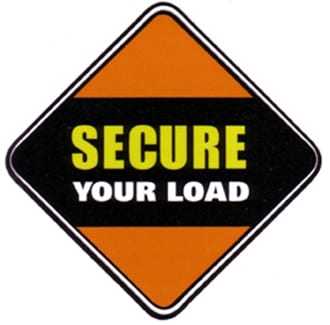 "image: road sign saying ""Secure Your Load."" logo for secureyourload.com"