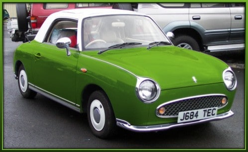 The Nissan Figaro, cars Japan didnt import, comedy guys defensive driving blog
