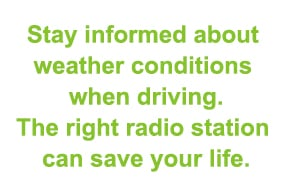 driving in bad weather stay informed about conditions
