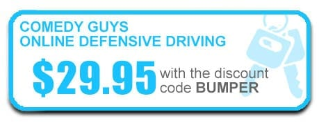 button to signup for Comedy Guys online defensive driving classes