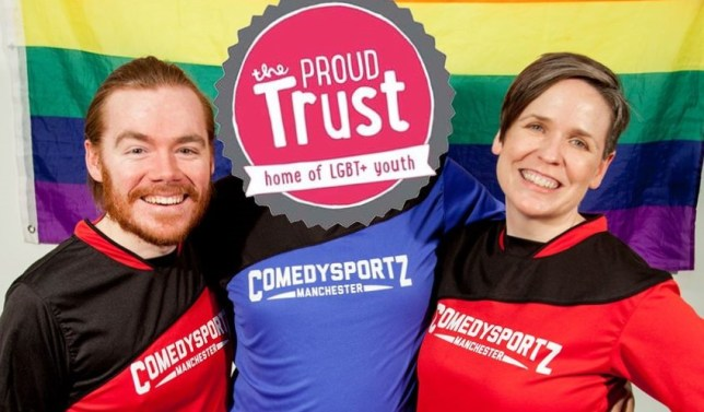 Raising money for the Proud Trust with ComedySportz