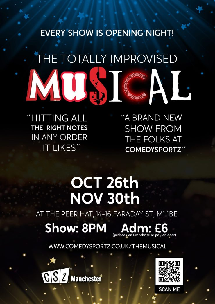 The Totally Improvised Musical comes to Manchester autumn 2021!