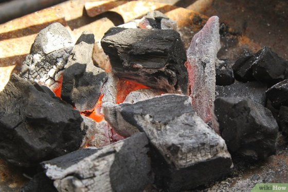 Immagine titolata Create a Strong Burning Charcoal Fire Step 15