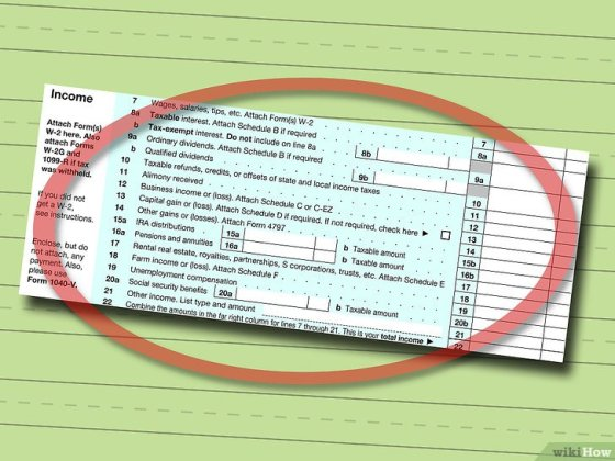 Immagine titolata Fill out IRS Form 1040 Step 4