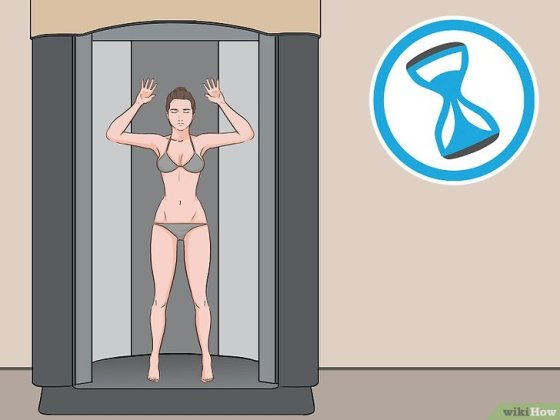 Immagine titolata Stand in a Spray Tan Booth Step 13