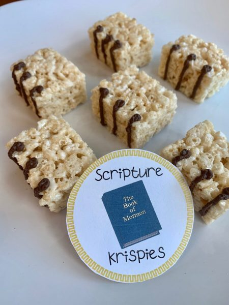 24 Book of Mormon Treats your Family will Love featured by Come Follow Me FHE: scripture krispies