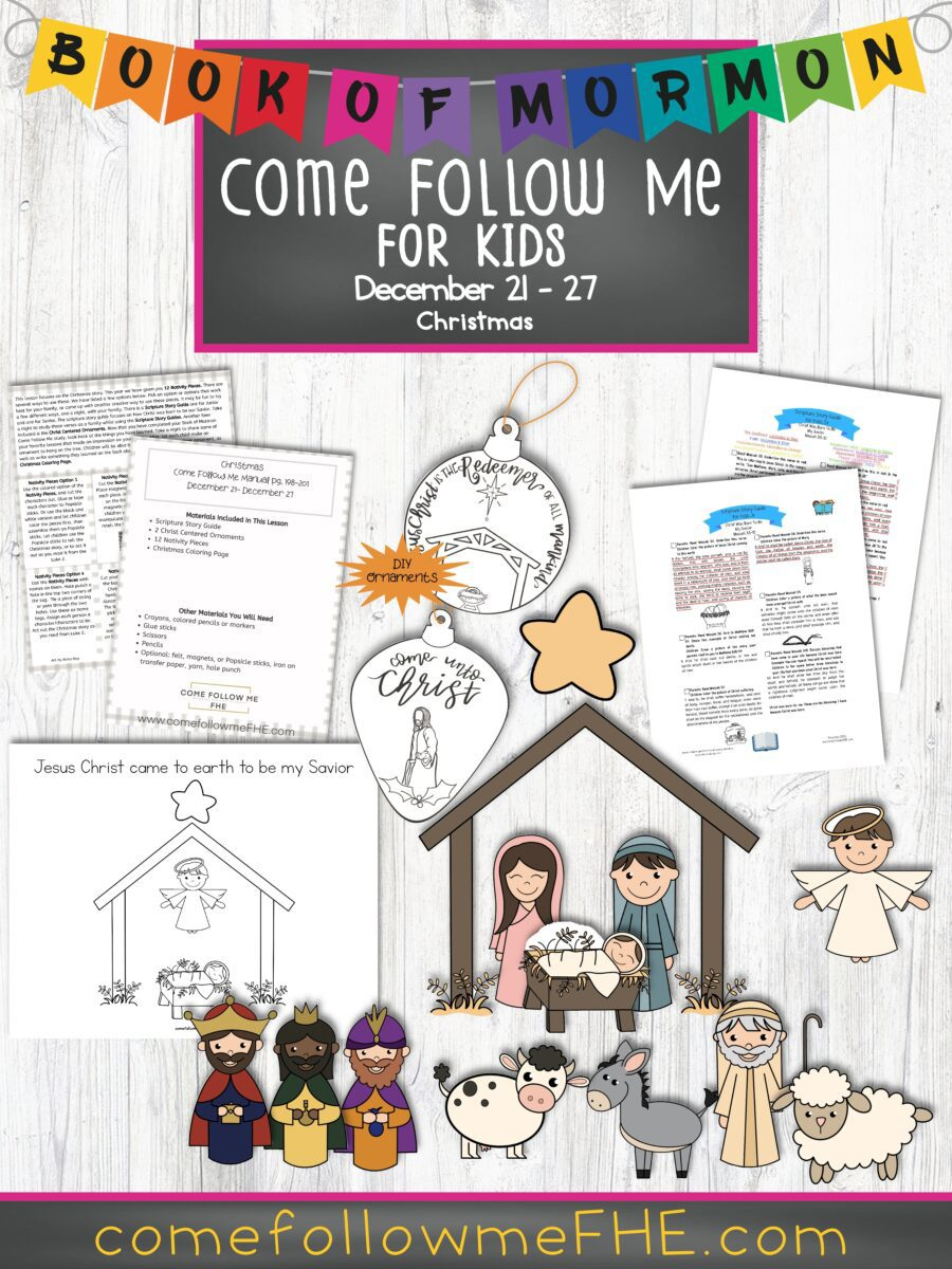 December 21 - December 27 Come Follow Me Lesson for Kids: Christmas by Come Follow Me FHE