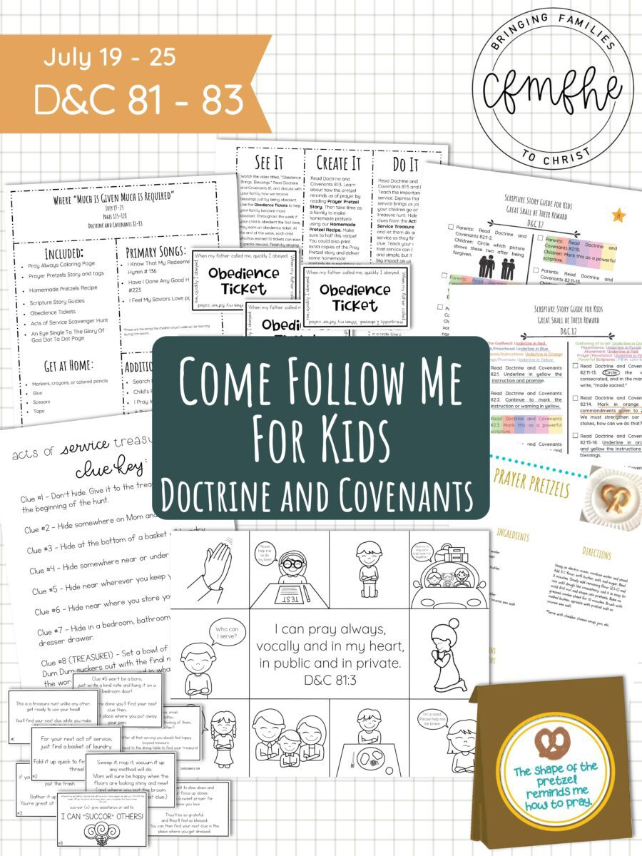 """July 19 - July 25 Come Follow Me Lesson for Kids: Where """"Much Is Given Much Is Required"""" by Come Follow Me FHE"""