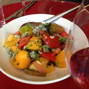 Photo of the mixed tomato salad