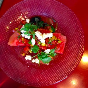 Photo of the watermelon salad