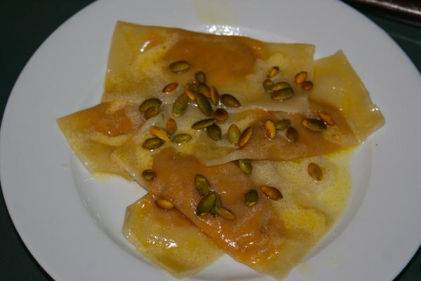 Photo of pumpkin ravioli