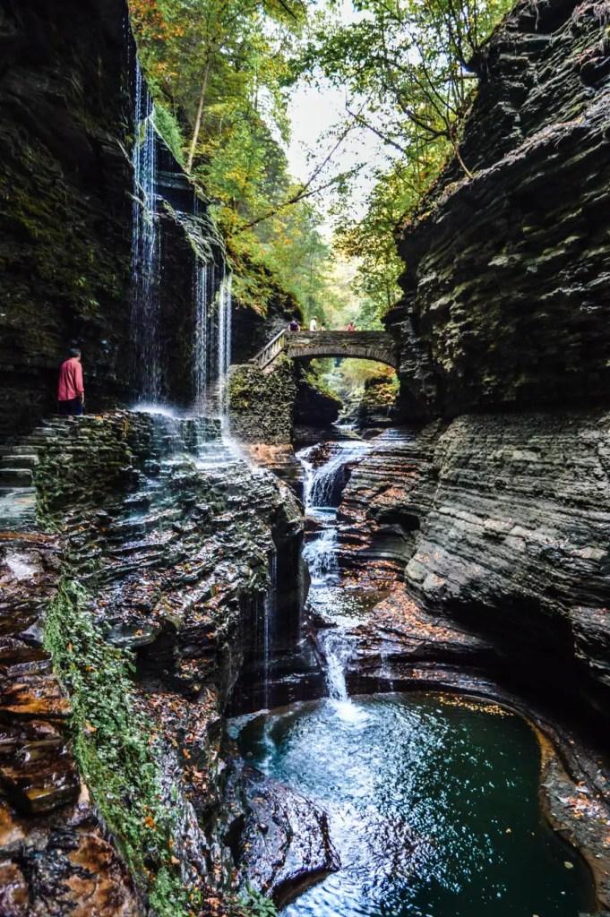 Watkins Glen State Park Rainbow Falls