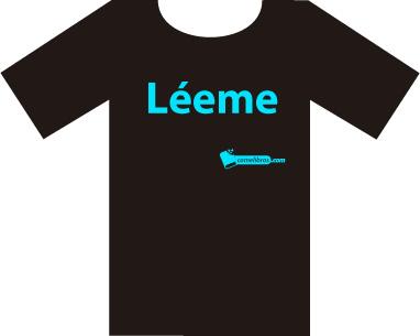 Camiseta Léeme