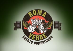logo huerto roma verde