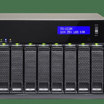 24733 1 - NAS QNAP TS853U-RP 8BAY CEL 2.0GHZ 4GB RACKEABLE