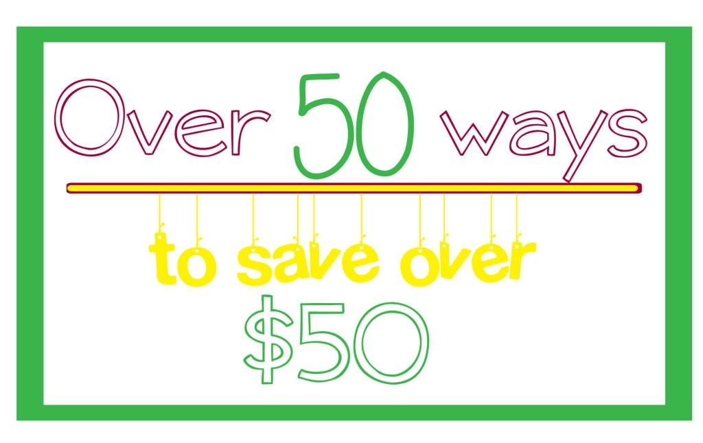 Over 50 ways to save Over $50: #2 wash clothes in cold water! I LOVE this series! be sure to read them all!