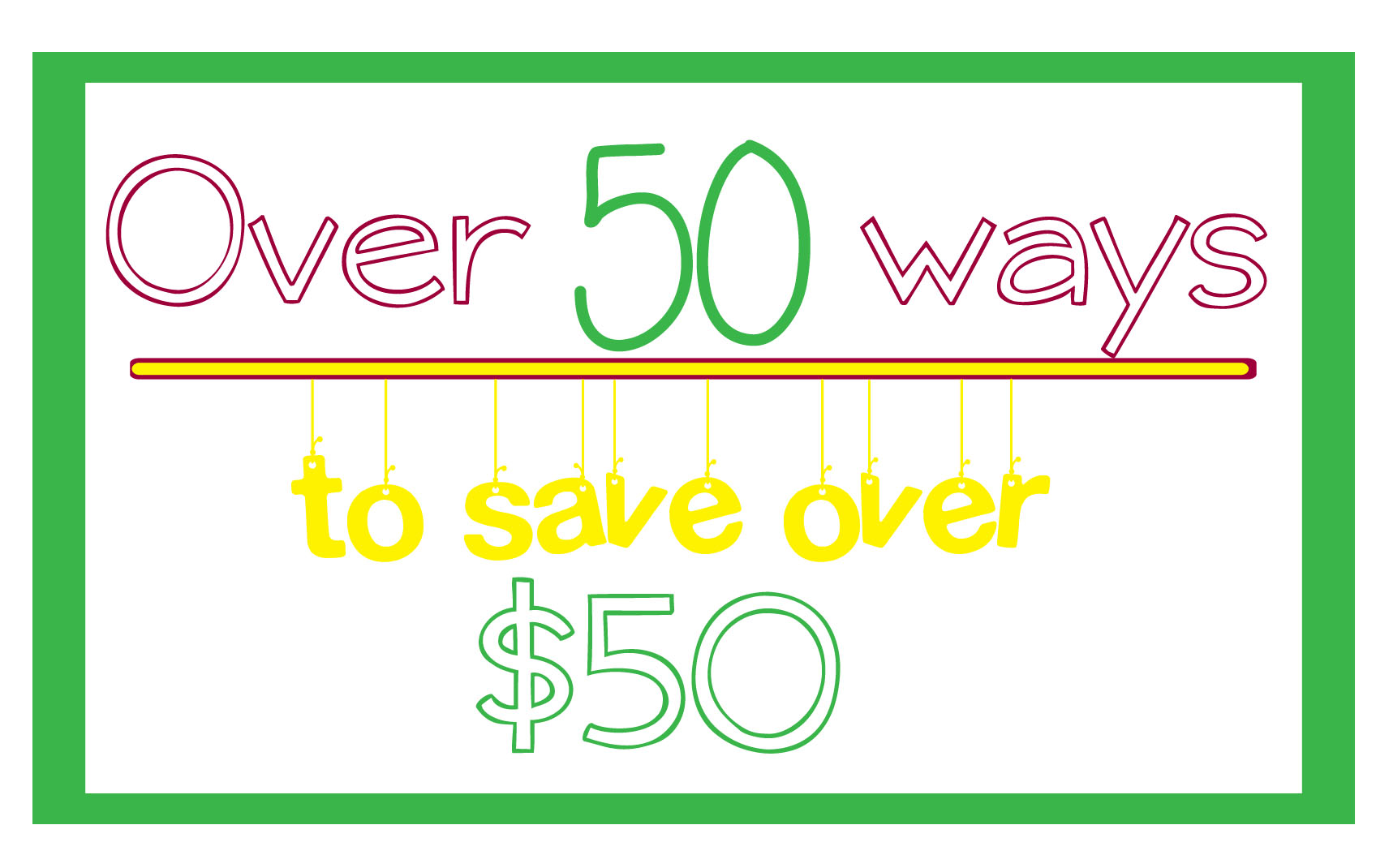 Over 50 Ways to Save Over $50 - #4 Have A Garage Sale (plus tips on having a successful garage sale)  I LOVE this series! be sure to read them all!