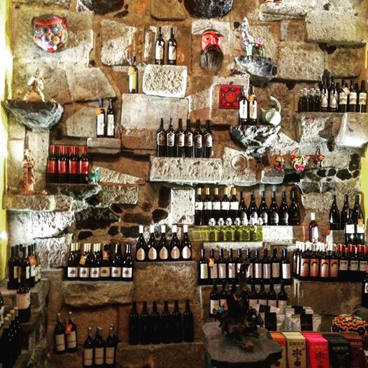 The wine store at Limosneros Restaurant in Mexico City. You can find a lot of Bordeaux-style wines made in Baja California. Ph: Sorrel Moseley-Williams.