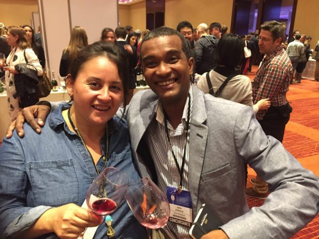 Jarald and me at one of the contest's four wine fairs in Mendoza.