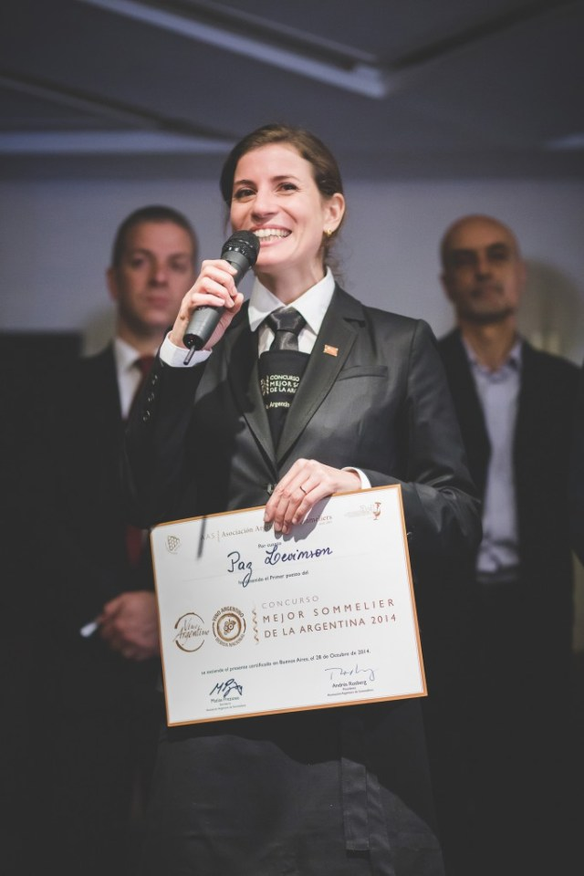 Sommelier Paz Levinson.