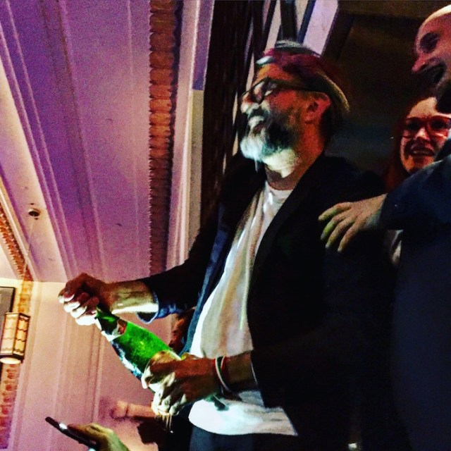World's best chef covers British journalist in bubbles shocker.
