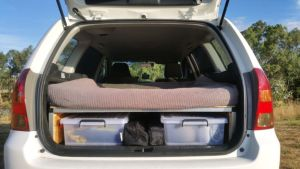 folding camper system for wagon is action
