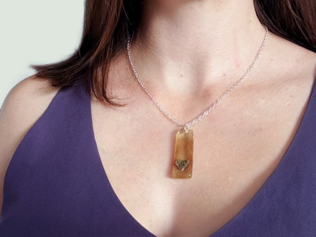 heart cremation necklace