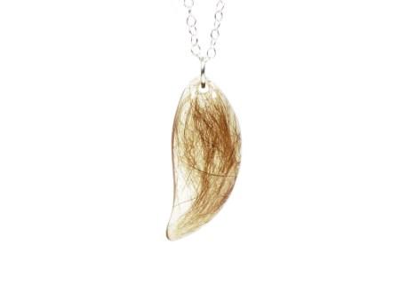 teardrop cremation necklace