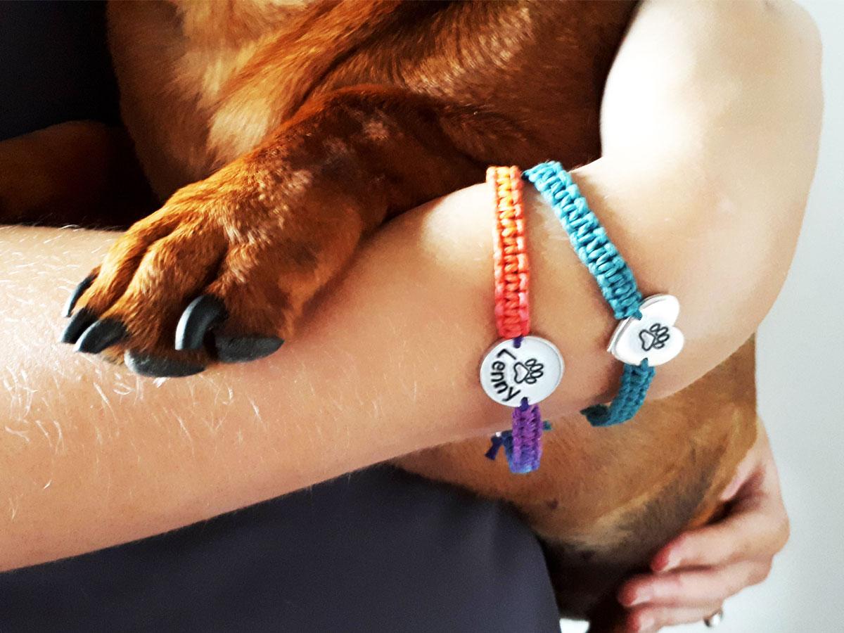 Pet Memorial Jewelry Paw Print Bracelet Hemp bracelet Pet Lover Bracelet Charm Bracelet Heart Bracelet Paw Bracelet Animal Bracelet