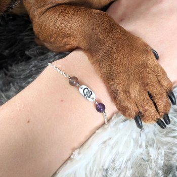 pet lover birthstone bracelet