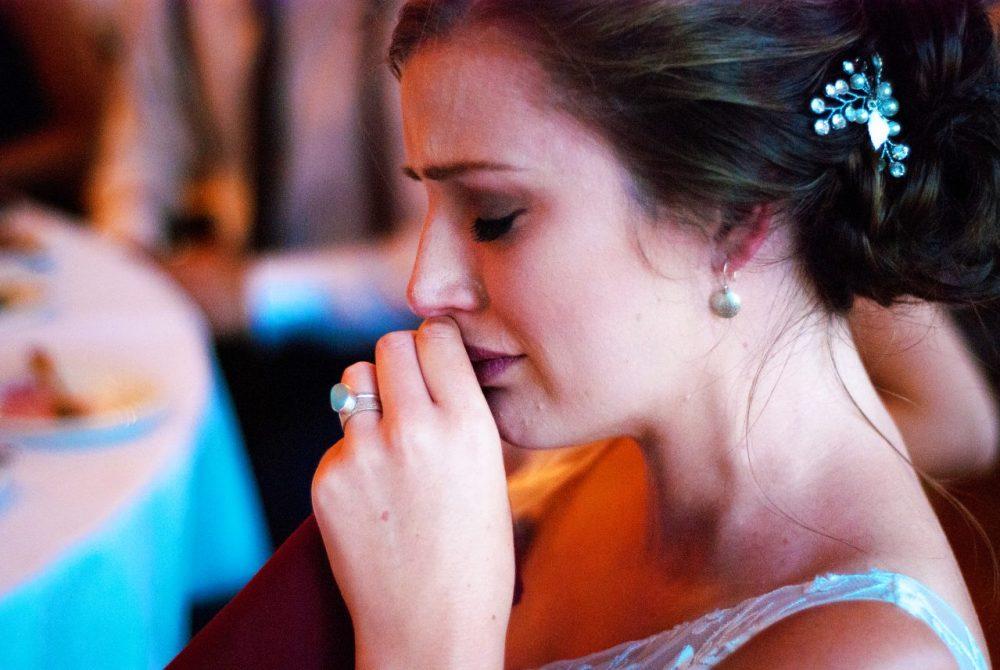emotional wedding day